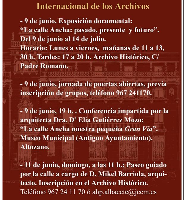 Exposición sobre la calle Ancha. Día Mundial de los Archivos.
