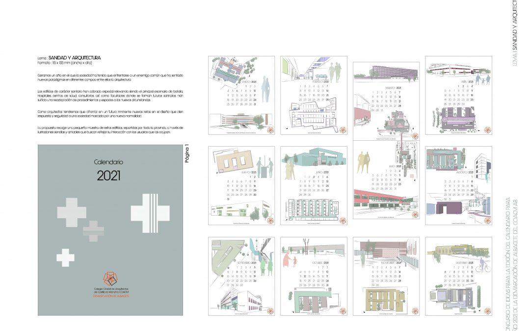 Fallo del XII Concurso de Ideas Calendario COACM AB 2021